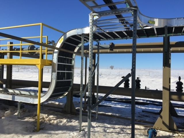 cable tray oil site winter